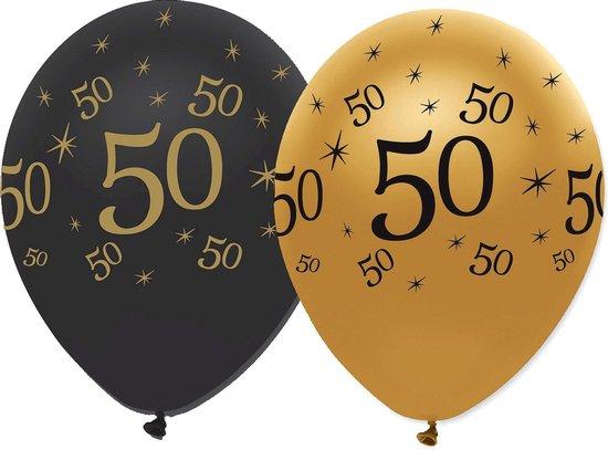 CREATIVE PARTY - Set goud-zwarte 50 jaar ballonnen - Decoratie > Ballonnen