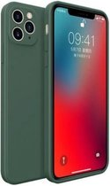 iPhone 11 Pro Max vierkante silicone case - donkergroen