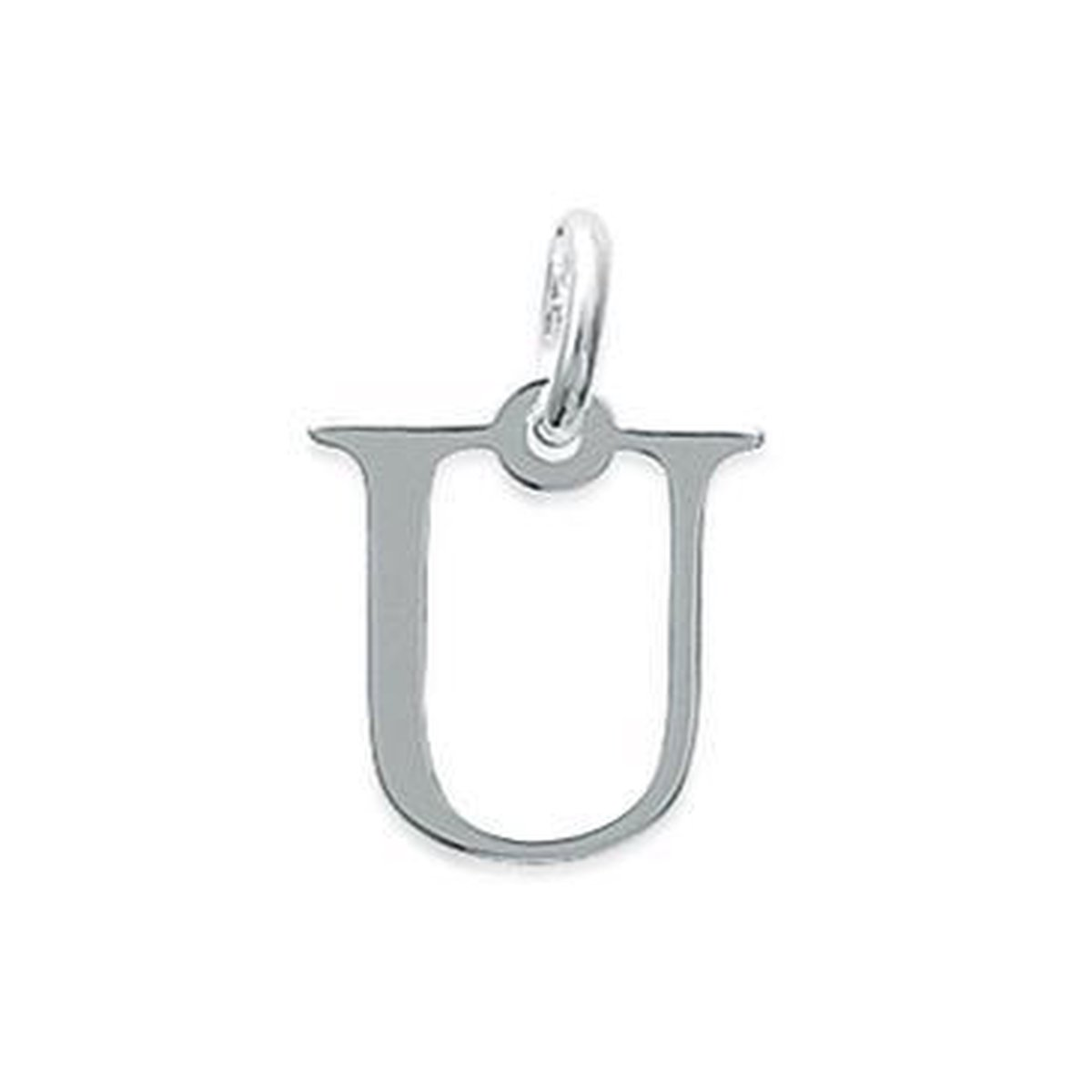 Blinx Jewels Zilveren Hanger Letter U