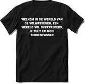"""Tshirt Heren   Grappige teksten """"welkom in de wereld van de volwassenen"""" spreuken shirt Dames cadeau   Maat 3XL"""