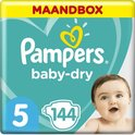 Pampers Baby-Dry Luiers - Maat 5 (11-16 kg) - 144 stuks - Maandbox
