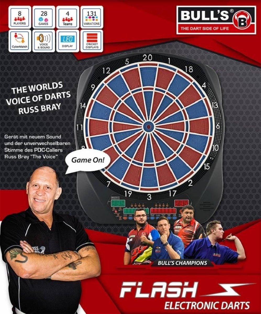 Bull's Flash Elektronisch Dartbord 40,5 Cm Rood/blauw