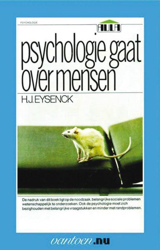 Boek cover Vantoen.nu  -   Psychologie gaat over mensen van H.J. Eysenck (Paperback)