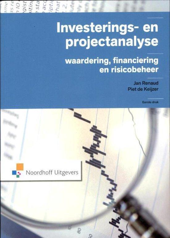 Boek cover Investerings- en project analyse van Jan Renaud (Paperback)