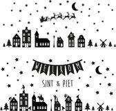 XL - Raamstickers sinterklaas & kerst - Herbruikbare Raamdecoratie - Kerst stickers - Kerstversiering
