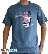 LAPINS CRETINS - T-shirt homme Trône d'enfer (S)