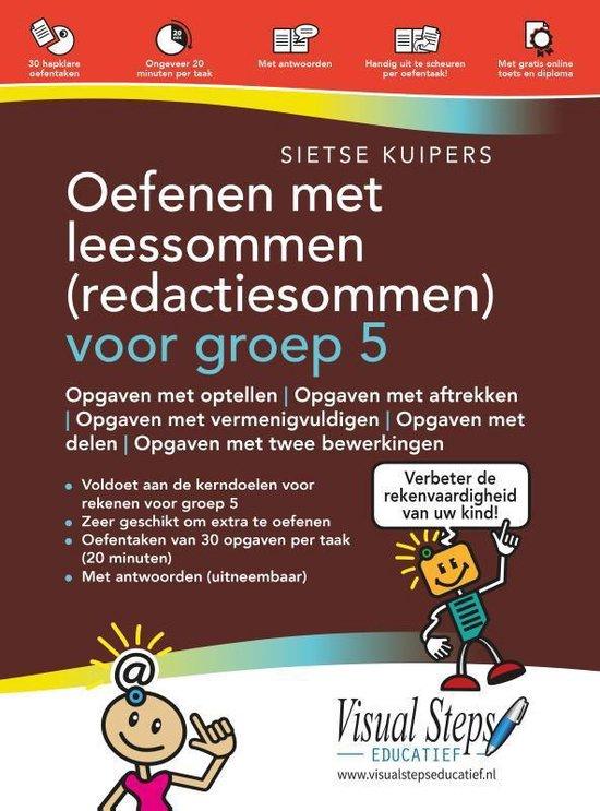Boek cover Oefenen met leessommen (redactiesommen) voor groep 5 van Sietse Kuipers (Paperback)