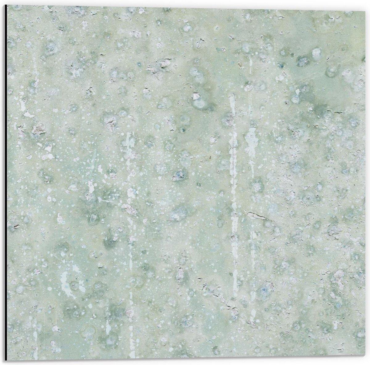 Dibond - Blauw Patroon - 50x50cm Foto op Aluminium (Met Ophangsysteem)