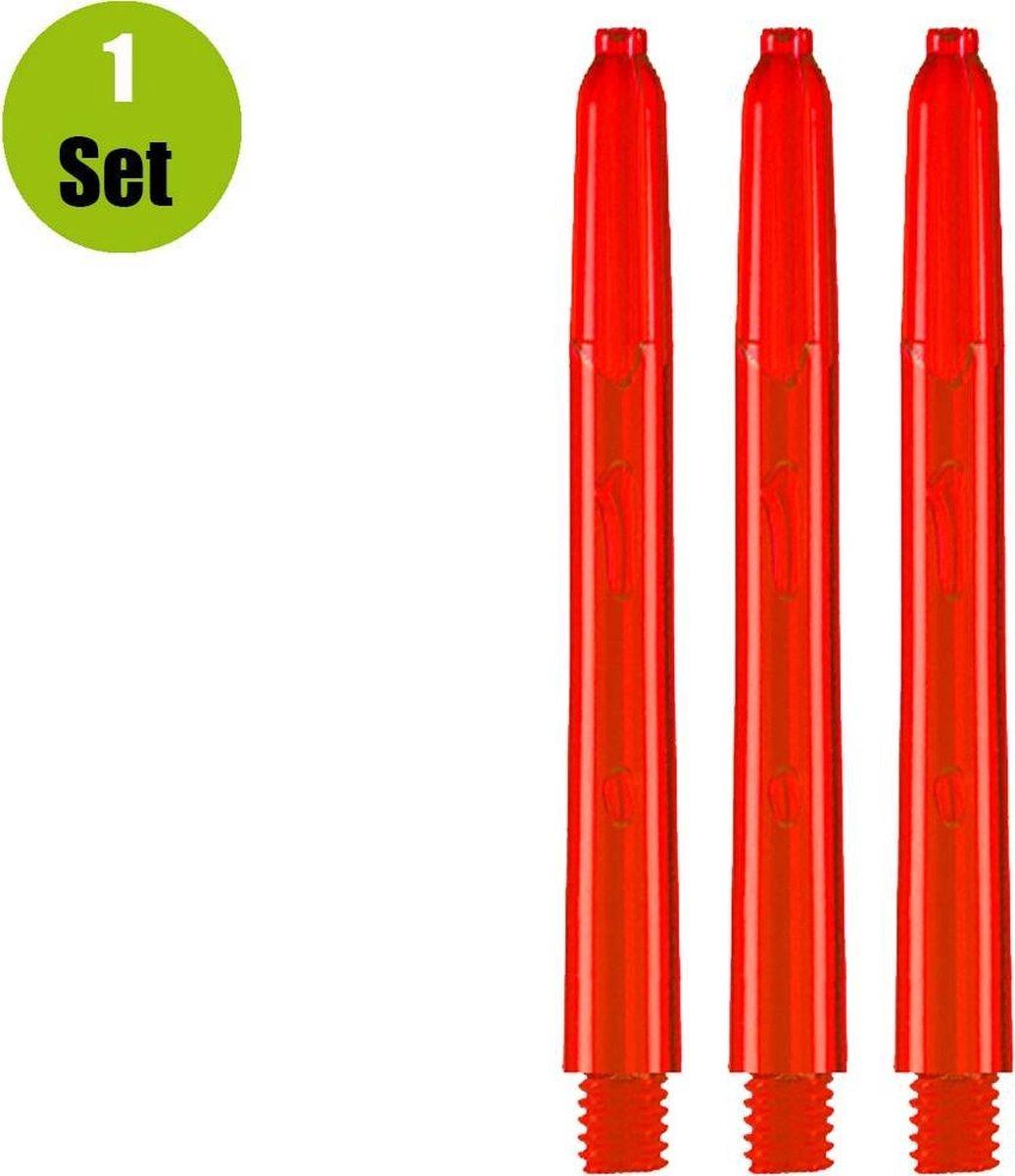Glow Dart Shafts - Rood - Medium - (1 Set)