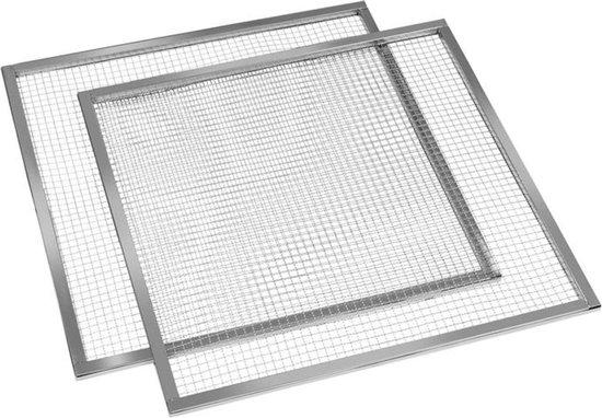 Master Jerky droogniveaus accessoire vervanging 2 stuks 67x67 cm rvs