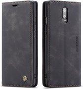 OnePlus 7 Hoesje - CaseMe Book Case - Zwart