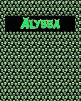 120 Page Handwriting Practice Book with Green Alien Cover Alyssa