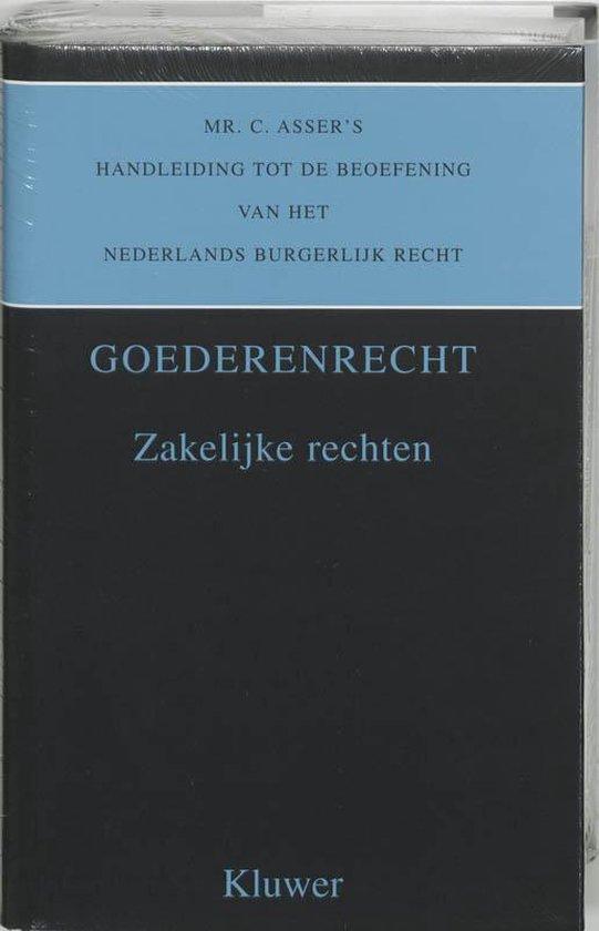 Mr. C. Asser's handleiding tot de beoefening van het Nederlands burgerlijk recht deel 3 II. Goederenrecht. zakelijke rechten - C. Asser |
