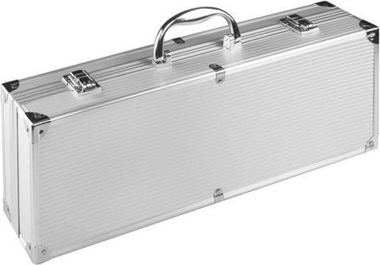 Afbeelding van BBQ Barbecuegereedschapset - Inclusief luxe aluminium koffer - 4-delig