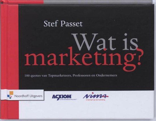 Wat is marketing ? - S. Passet |
