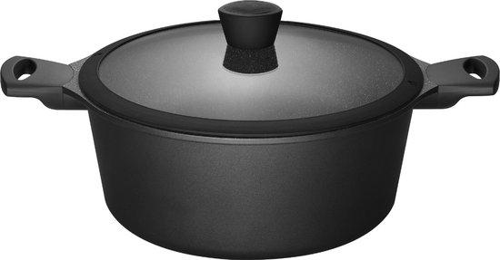 Sola Fair Cooking Braadpan - 28 cm - met deksel - anti aanbak - Zwart