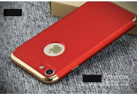 iPaky 3-in-1 Hardcase iPhone 7/8 - Rood/Goud