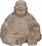 Boeddha beeldje happy 24 cm