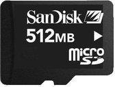 SanDisk Micro SD Card 512 MB - geheugenkaart