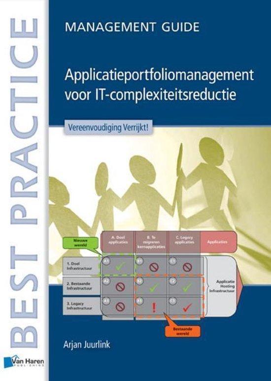 Cover van het boek 'Applicatieportfoliomanagement: IT-Complexiteitsredeductie in de praktijk / deel management guide'