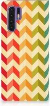 Huawei P30 Pro Uniek Standcase Hoesje Zigzag Color