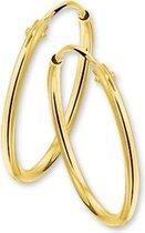 The Jewelry Collection oorringen Ronde Buis - Goud (14 Krt.) - 17 mm