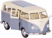 Welly Metalen volkswagen bus t1: grijs 13,5 cm
