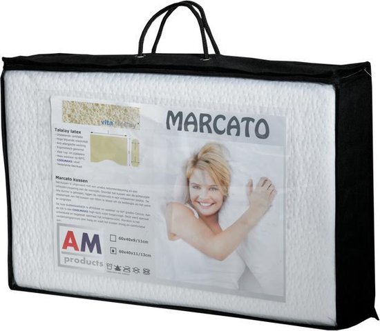 AM Products - Talalay Marcato - Latex - Hoofdkussen - Wit -  Soft - 9/11cm
