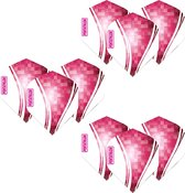Pentathlon Wave - sterke flights - Roze - Dragon darts - 3 Set (9 stuks) - darts flights