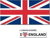 Engelse vlag met 2 gratis Engeland stickers