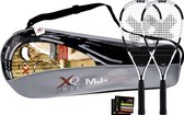XQ Max Badmintonset-Wit/zwart/rood