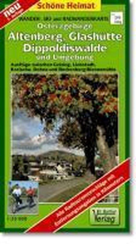 Osterzgebirge. Altenberg, Glashütte, Dippoldiswalde und Umgebung 1 : 35 000. Wander-, Ski- und Radwanderkarte
