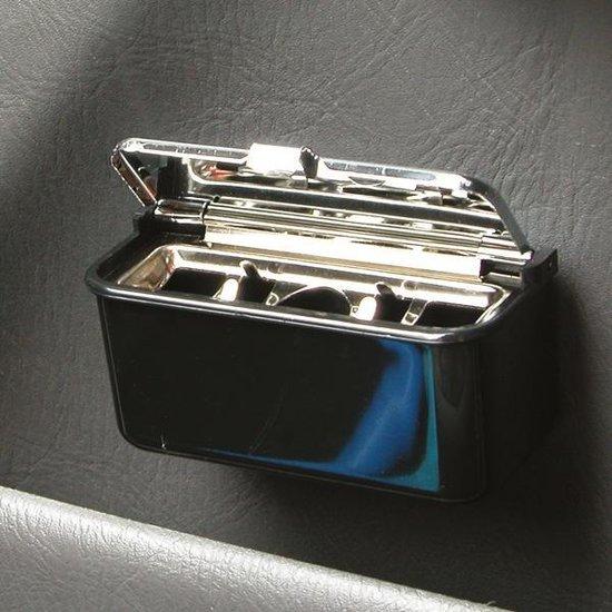Bol Com Carpoint Auto Asbak Met Deksel 9 X 5 Cm Zwart Chroom
