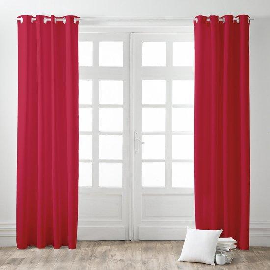 Kant en Klaar Gordijn Rood - 140cm x 260cm