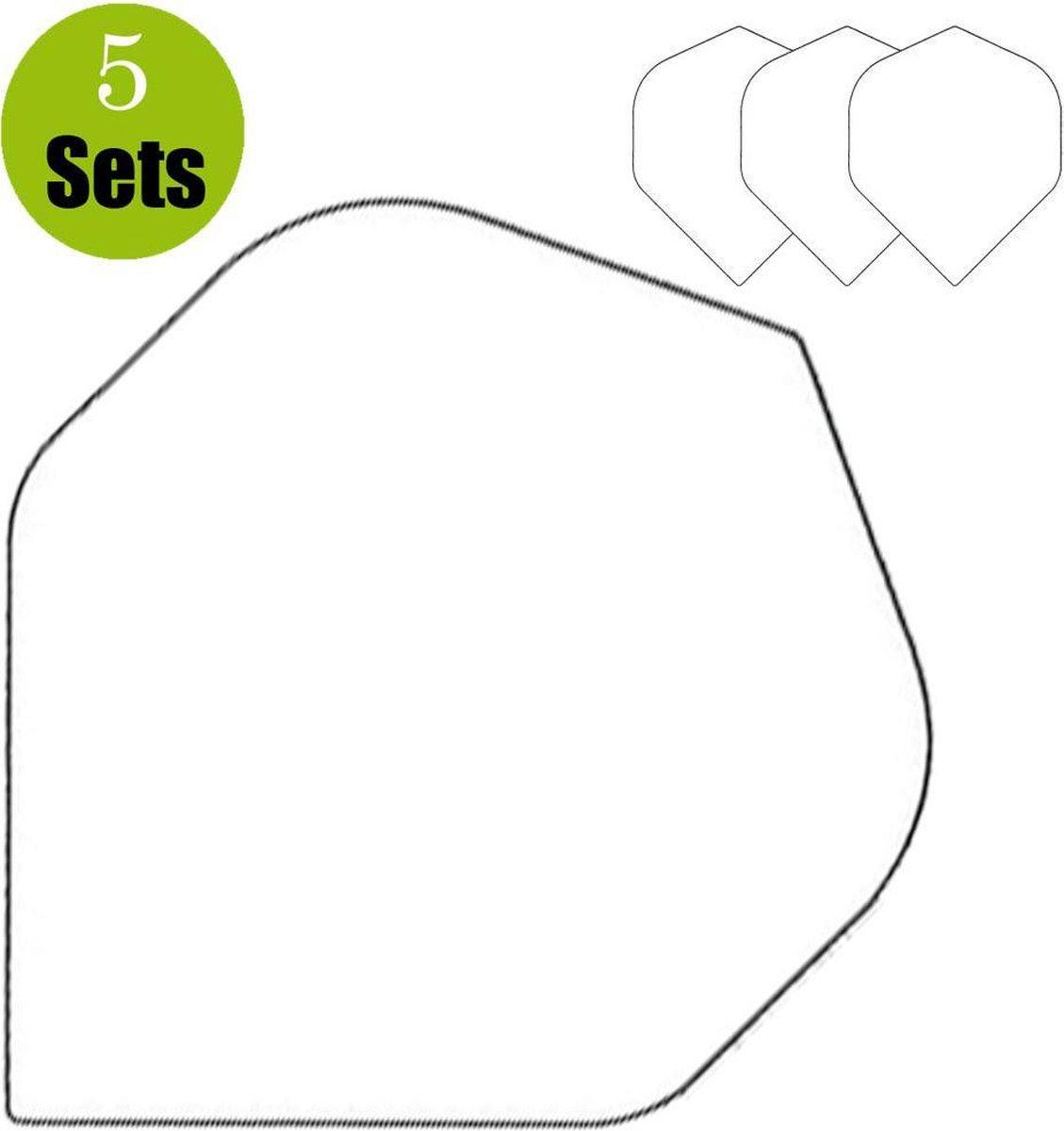 Poly Plain Dartflights - Wit- (5 Sets)