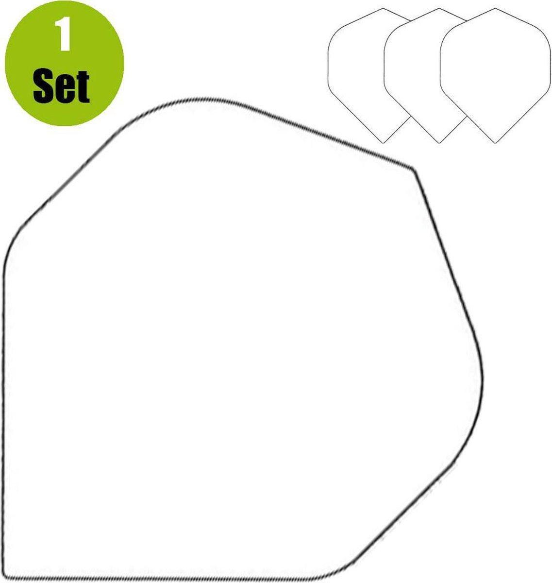 Poly Plain Dartflights - Wit- (1 Set)