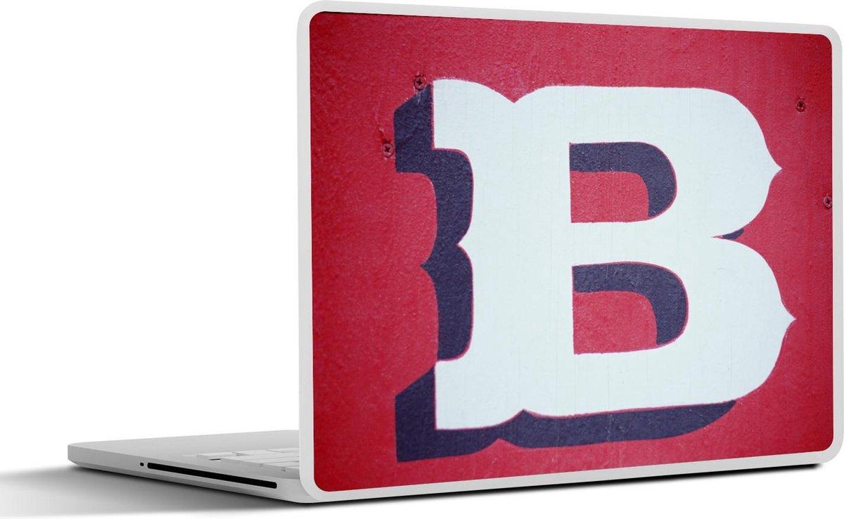 Laptop sticker - 17.3 inch - Letter B op muur