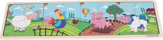 New Classic Toys Houten Legpuzzel - 4 in 1 puzzel - Boerderijdieren