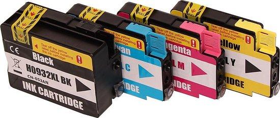 Merkloos – Inktcartridge / Alternatief voor de Set 4x  patroon voor HP 932XL/933XL - Merkloos