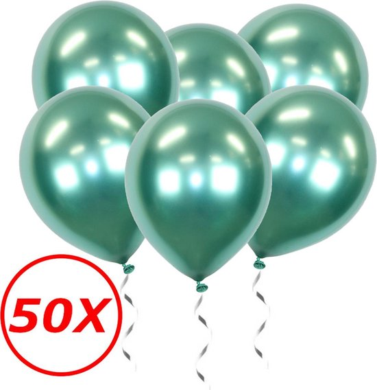 Groene Ballonnen Verjaardag Versiering Helium Ballonnen Feest Versiering Jungle Decoratie Chrome Versiering - 50 Stuks