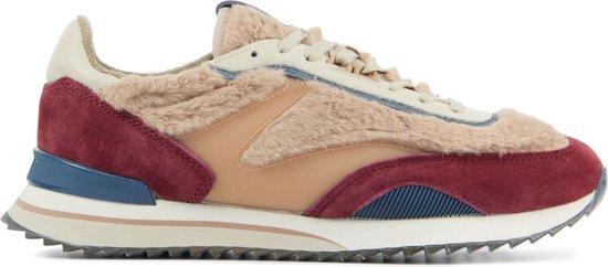 HOFF Vrouwen Suède Lage sneakers / Damesschoenen NATURAL – Roze – Maat 37