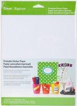Cricut - bedrukbaar sticker papier A4, 12 vel