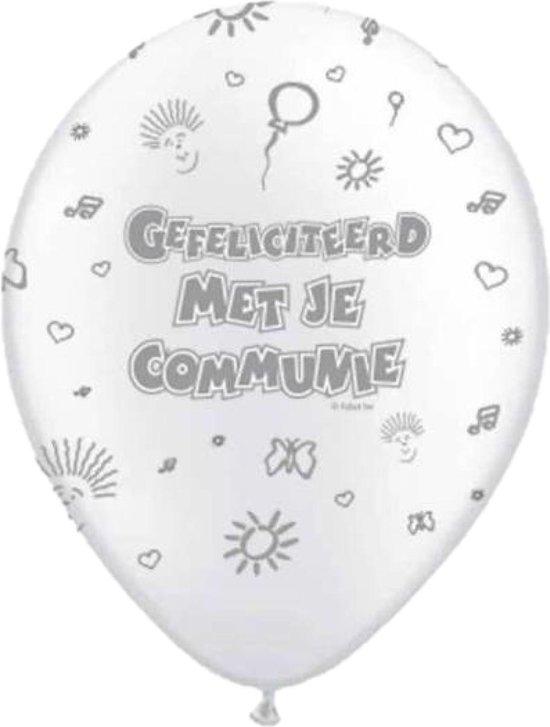 Folat - Ballonnen - Communie - Wit - 8st.