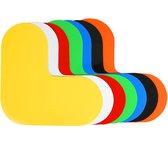 Hoekstuk   Oranje  190 x 190 mm - vloersticker met gladde toplaag