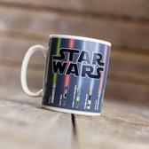 Star Wars Warmtegevoelige mok met lightsabers