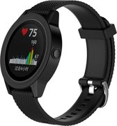 Garmin Vivoactive 3 horloge band gemaakt van siliconen – armband – bandje - polsband – sportband – 20MM – Zwart