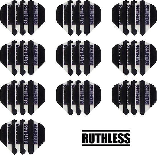 Dragon darts - 10 Sets (30 stuks) - Ruthless - sterke flights - Zwart - darts flights