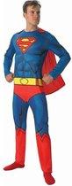Superman Comic Book - Kostuum Volwassenen - Maat One Size