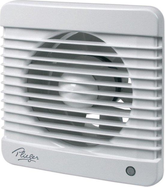 Plieger Ventilator met Timer 185 m³ x ø 125 mm Wit