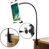 Shop4 - iPad 9.7 (2017/2018) Tafelhouder Flexibele Aluminium Nek Tablet houder Zwart
